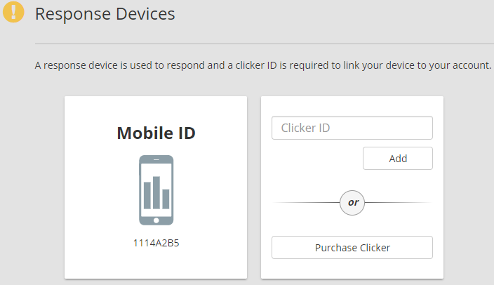Response Devices Page