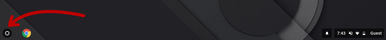 App launcher icon on a Chromebook