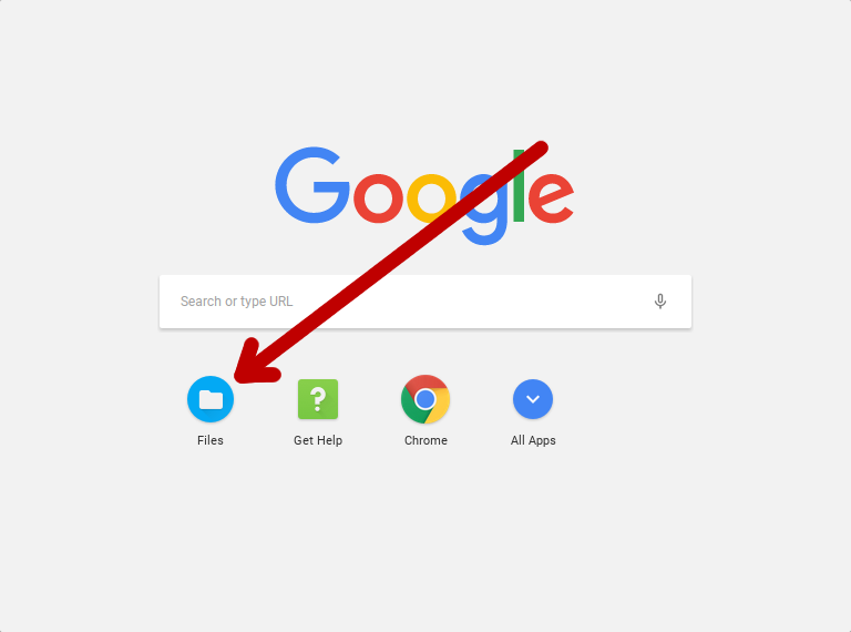 The apps launcher menu on a Chromebook