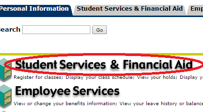 student services and financial aid seanet