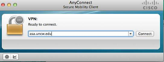 Screenshot of the AnyConnect Secure Mobility Client