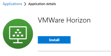 Software Center Horizon Install Button