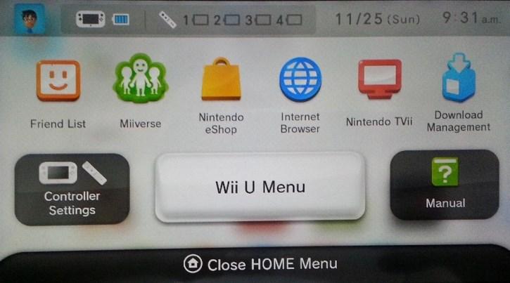 Wii U Menu