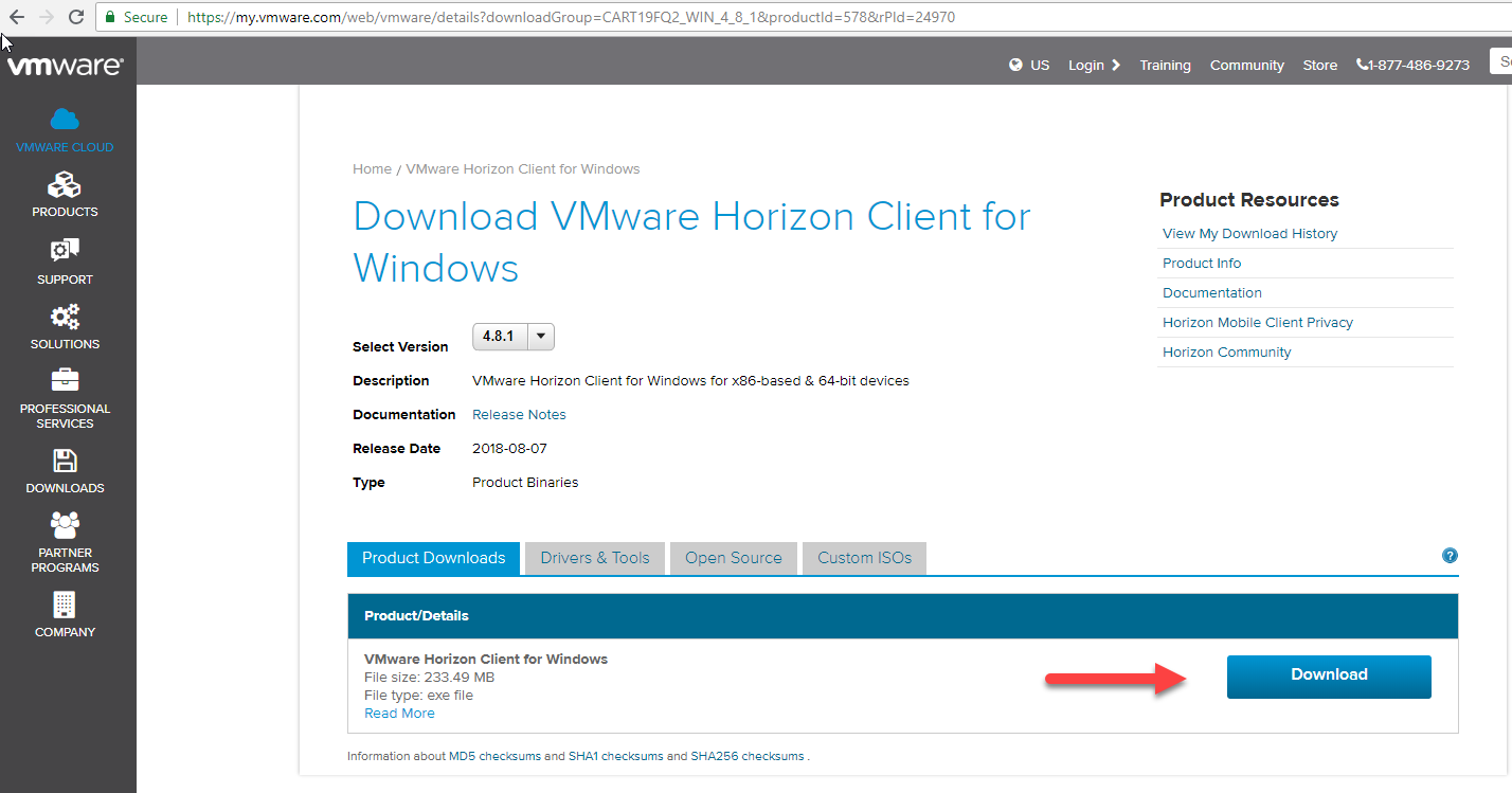 Download picture for Windows VMWare
