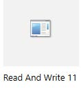 Read and Write Application icon