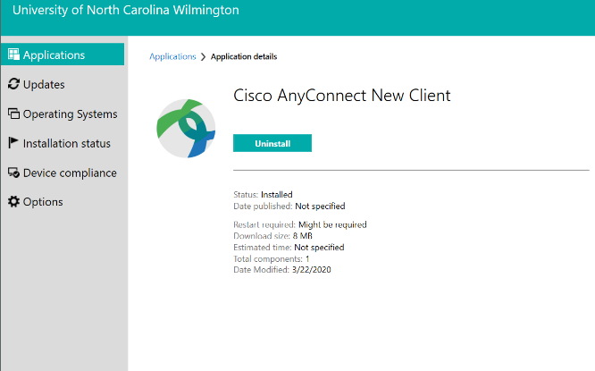 "Screenshot of the ""Installation Complete"" Cisco AnyConnect New Client"