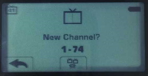 The channel screen for a TurningPoint clicker.